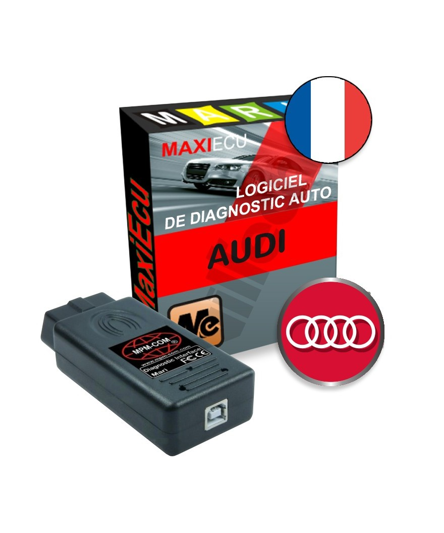 maxiecu 2 audi pack logiciel de diagnostic interface mpm com. Black Bedroom Furniture Sets. Home Design Ideas