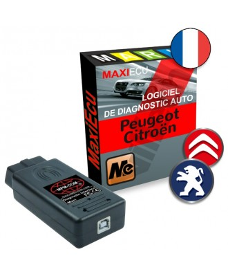 MaxiEcu 2 Peugeot, Citroën - Pack Logiciel + interface MPM-COM