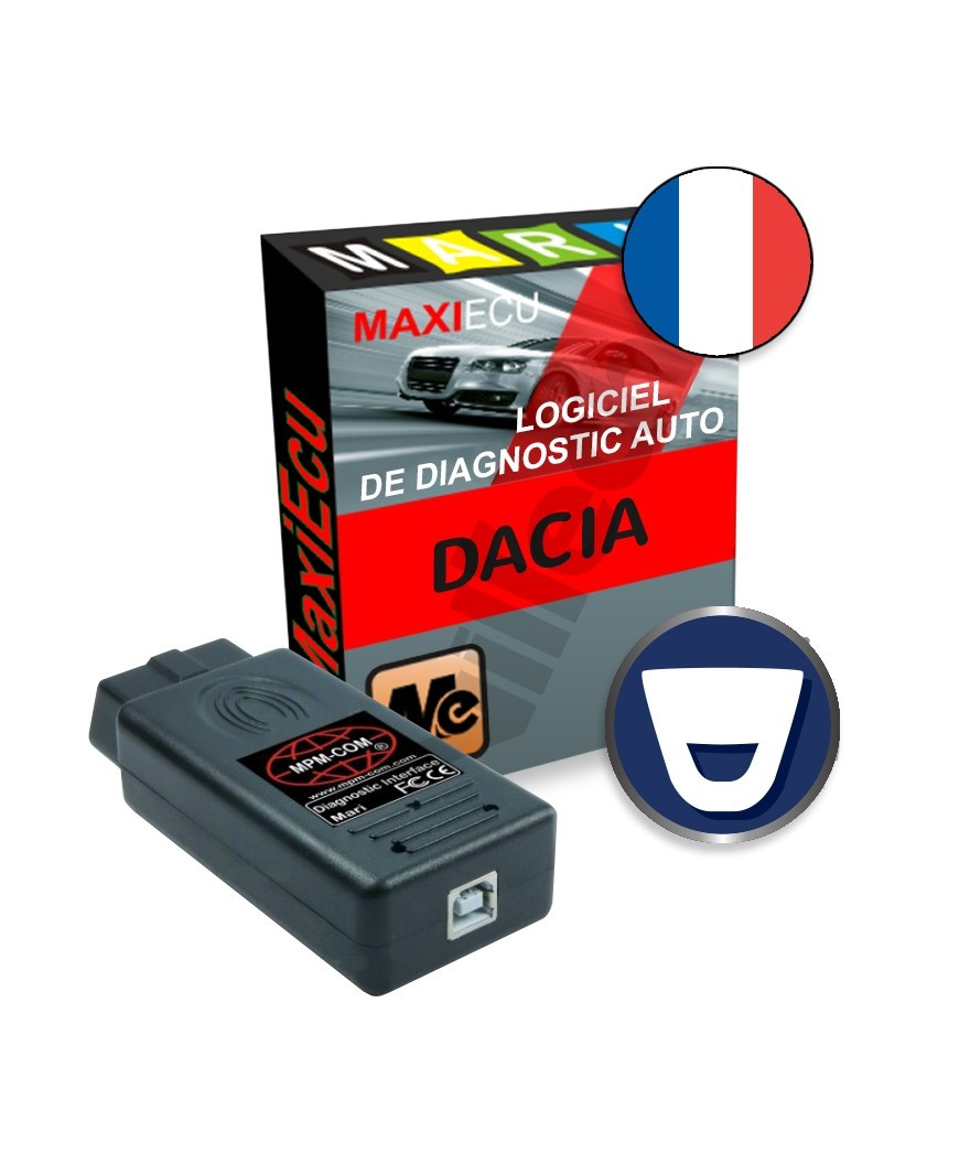 maxiecu 2 dacia pack logiciel de diagnostic interface mpm com. Black Bedroom Furniture Sets. Home Design Ideas