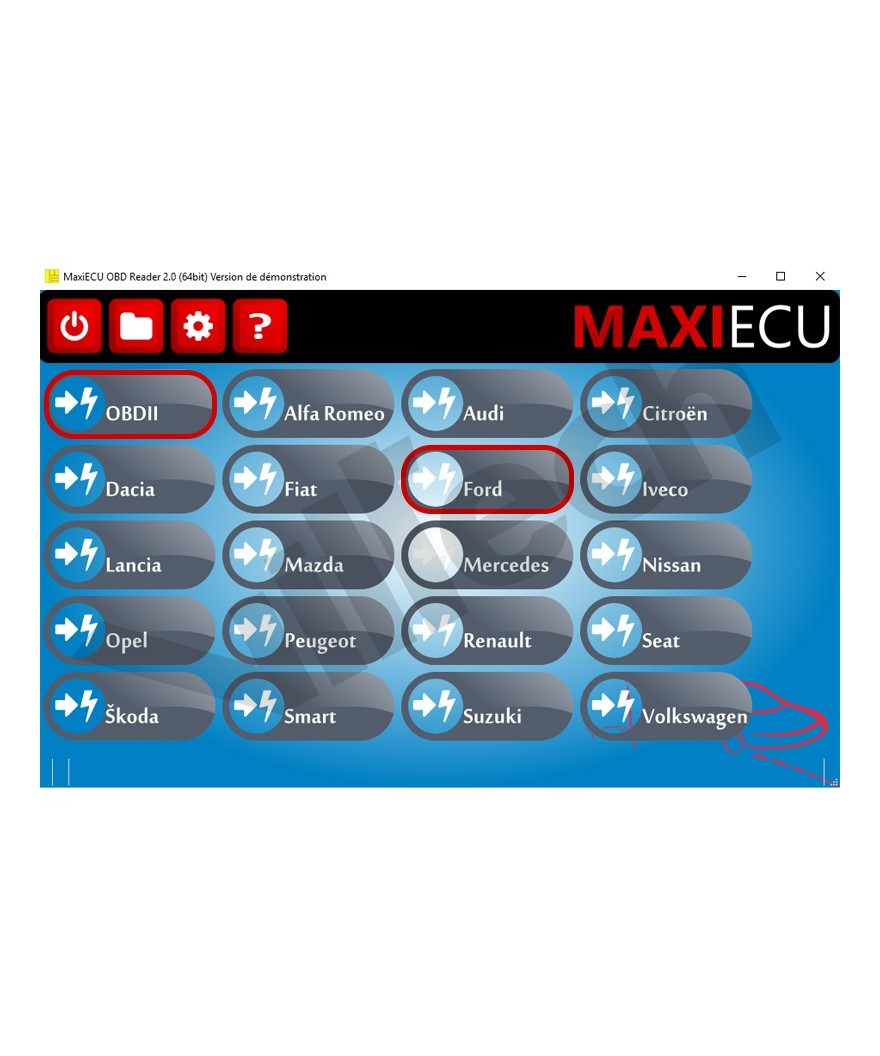 maxiecu 2 honda pack logiciel de diagnostic interface mpm com. Black Bedroom Furniture Sets. Home Design Ideas