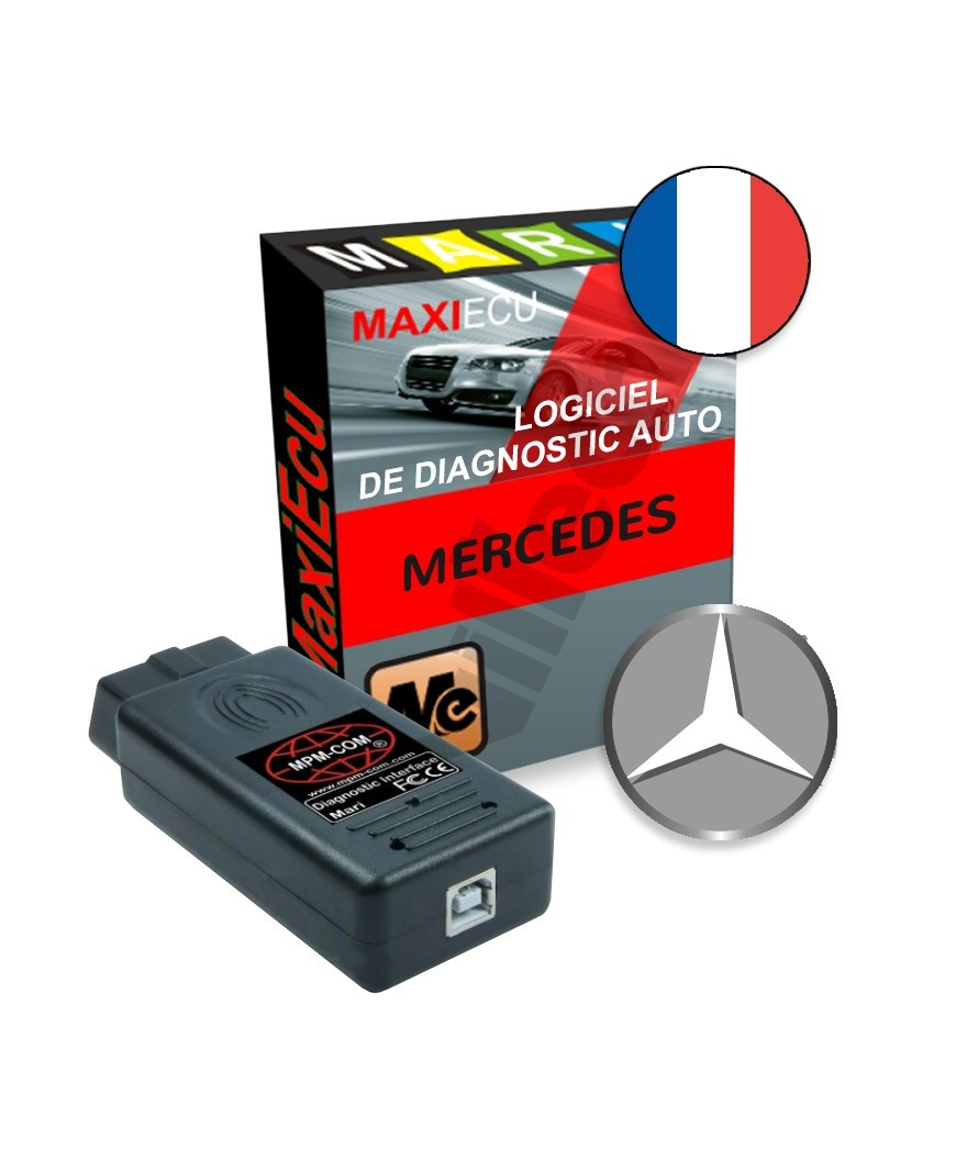 maxiecu 2 mercedes pack logiciel de diagnostic interface mpm com. Black Bedroom Furniture Sets. Home Design Ideas